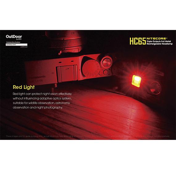 Linterna Frontal LED Nitecore 1000 lúmenes Recargable USB HC65- Image 23