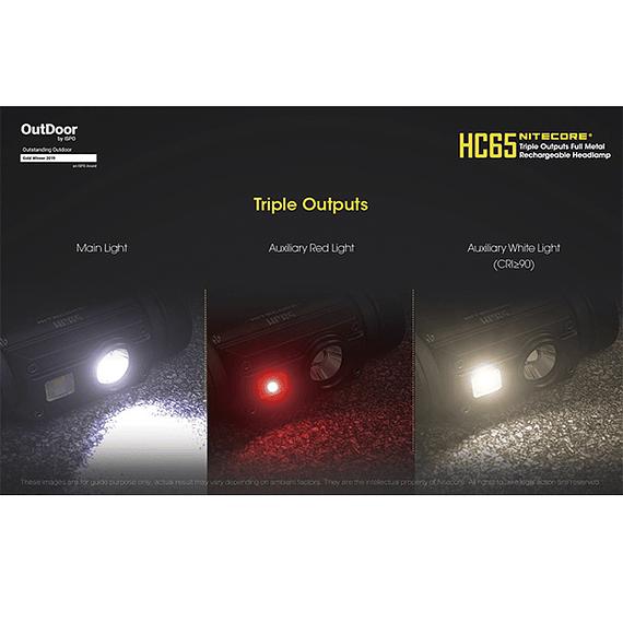 Linterna Frontal LED Nitecore 1000 lúmenes Recargable USB HC65- Image 24