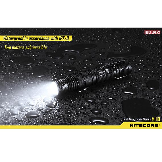 Linterna LED Nitecore 1000 lúmenes Recargable USB MH10- Image 5