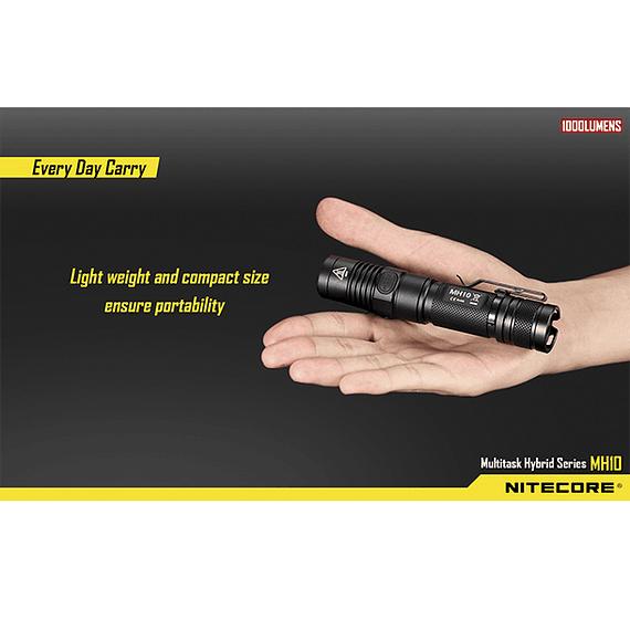Linterna LED Nitecore 1000 lúmenes Recargable USB MH10- Image 7