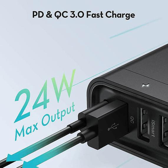 Cargador RAVPower Filehub USB-C 60W con 6 Puertos- Image 3