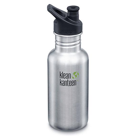 Botella Hidratación Klean Kanteen 532ml (18oz) Classic Brushed Stainless- Image 1