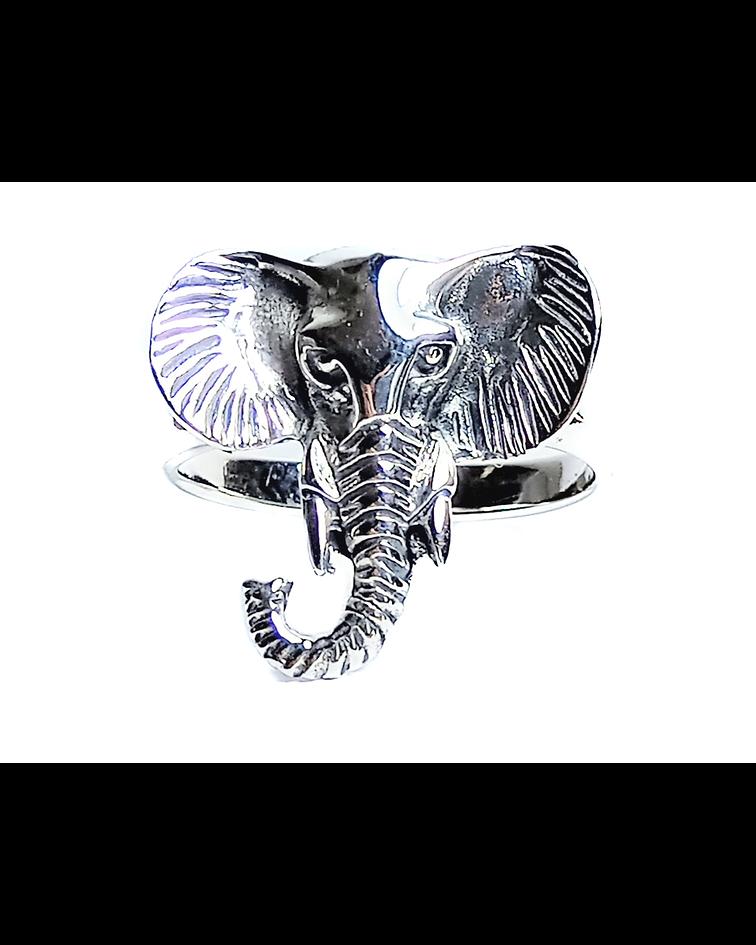Anillo Cabeza De Elefante Plata Fina 925