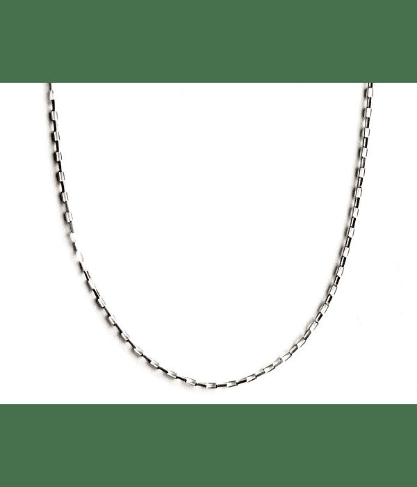 Cadena Eslabón Cuadrado Plata Fina 925