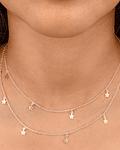 Collar Estrellas Doble Plata Fina 925