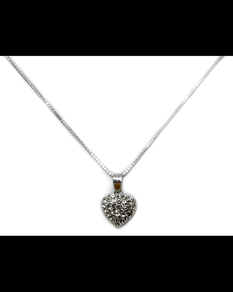 Collar Corazón Plata Fina 925