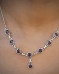 Collar Piedra Natural Plata Fina 925