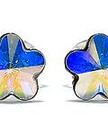 Aros Cristal Tornasol 6mm Plata Fina 925