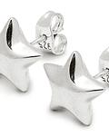 Aros Estrella Plata Fina 925