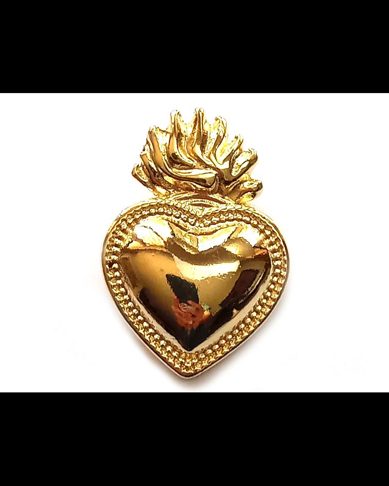 Colgante Corazón Detente Enchapado Oro 18 K