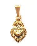 Colgante Corazón Detente Pequeño Enchapado Oro 18 K