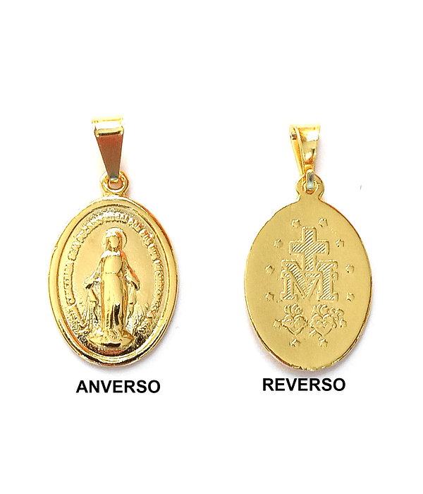 Colgante Virgen De Los Rayos Mediana Enchapado Oro 18 K