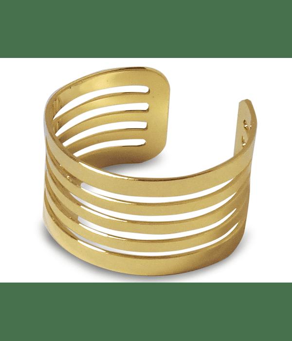 Anillo Tubo Calado Enchapado Oro 18 K