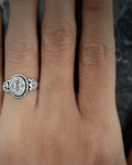 Anillo Piedra Luna Oval Facetado Plata Fina 925