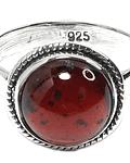 Anillo Granate Plata Fina 925
