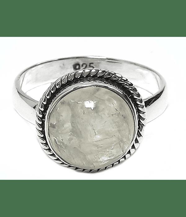 Anillo Piedra Luna Plata Fina 925