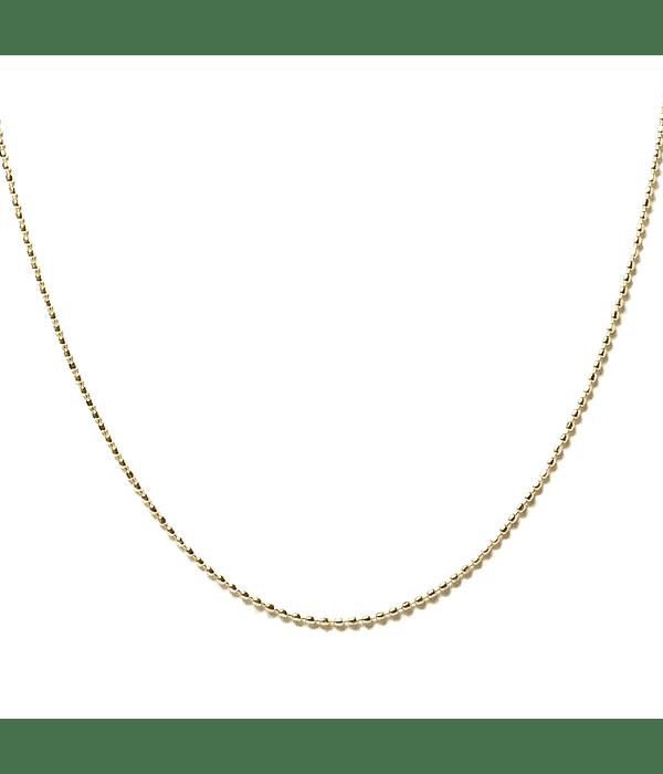 Cadena Mini Beads Enchapado Oro 18 K