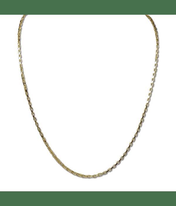 Cadena Eslabón Cuadrado Enchapado Oro 18 K
