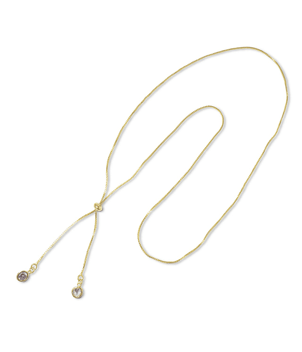 Collar Largo 2 Circones Enchapado Oro 18 K