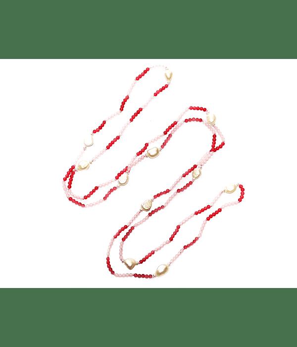 Collar Cuarzo Rosa Perla De Río