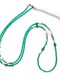 Collar Cristal Verde Claro Perla De Río