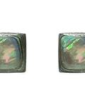 Aros Cuadrados 8mm Plata Fina 925