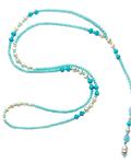 Collar Cristal Celeste Perla De Río
