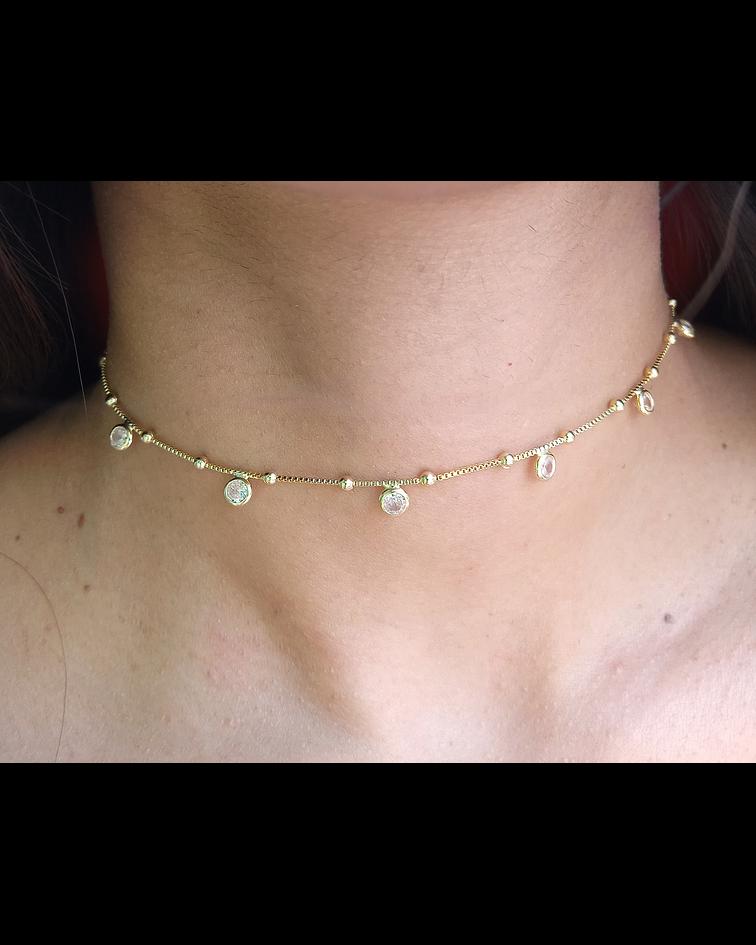 Collar Choker Circones Enchapado Oro 18 K