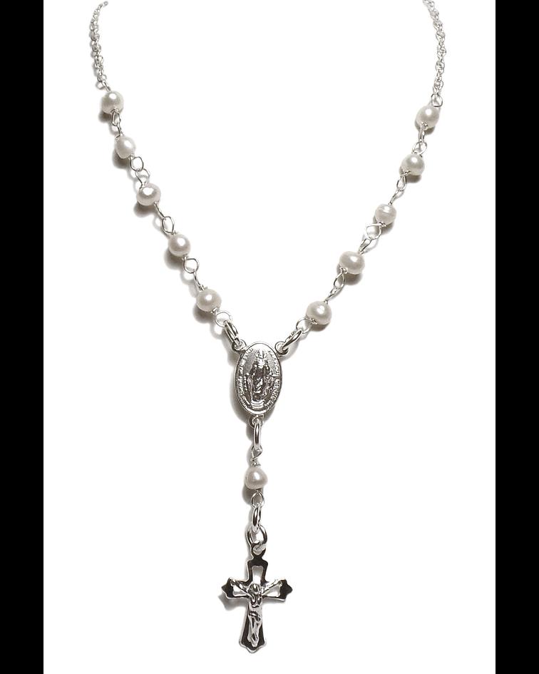 Collar Denario Perlas De Río Plata Fina 925