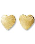 Aros Corazón Satinado 10mm Enchapado Oro 18 K