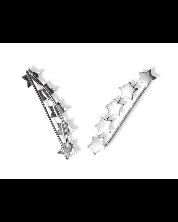 Aros Trepadores 5 Estrellas Plata Fina 925