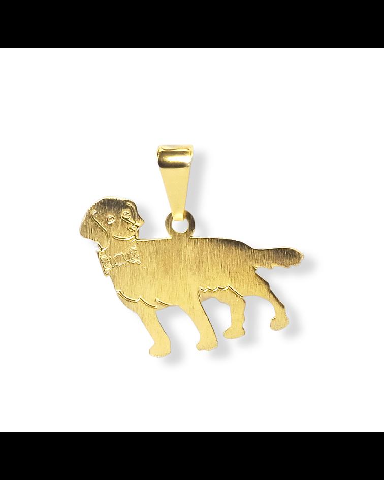 Colgante Perrito Labrador Enchapado Oro 18 K