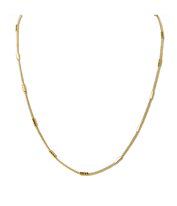 Collar Cadena Y Mostacillas Enchapado Oro 18 K