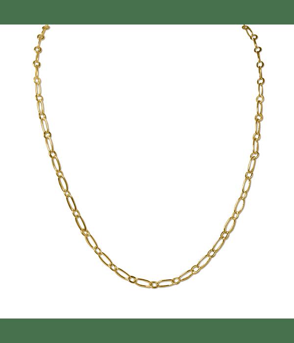 Cadena Eslabón Ovalado Enchapado Oro 18 K