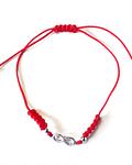 Pulsera Infinito Bolitas Plata Fina 925 Cordón Rojo