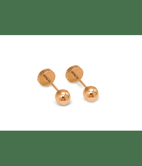 Aros Abridores Bebé Bolita 4mm Laminado Oro 18 K