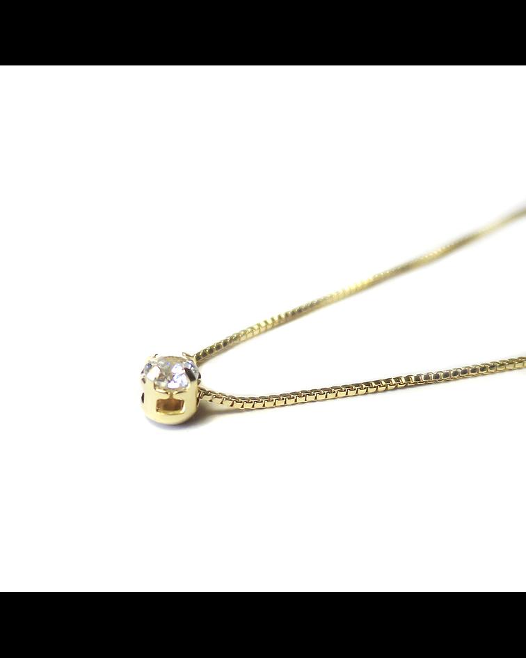Collar Punto De Luz Mini Enchapado Oro 18 K