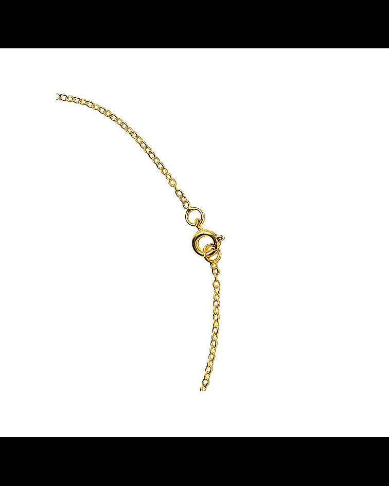 Collar Cristal Austriaco Aurore Boreale Enchapado Oro 18 K