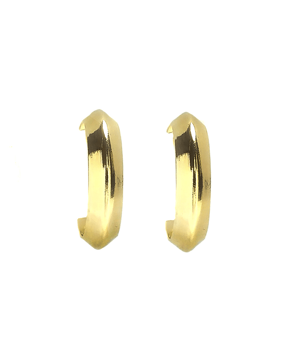 Aros Argolla 22mm Enchapado Oro 18 K