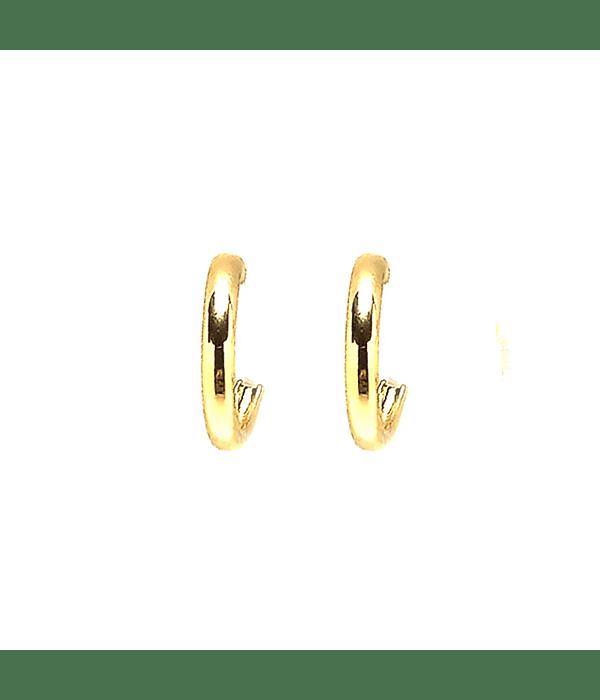 Aros Argolla Mini 12 mm Enchapado Oro 18 K