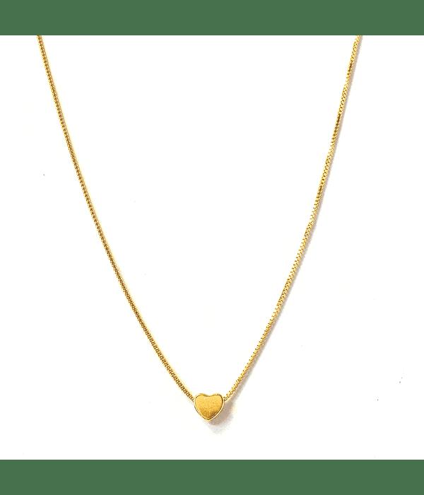 Collar corazón Enchapado Oro 18 K