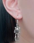 Aros Esqueleto Colgante Plata Fina 925