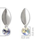 Aros Cristal Austriaco Aurore Boreale Enchapado Plata 925