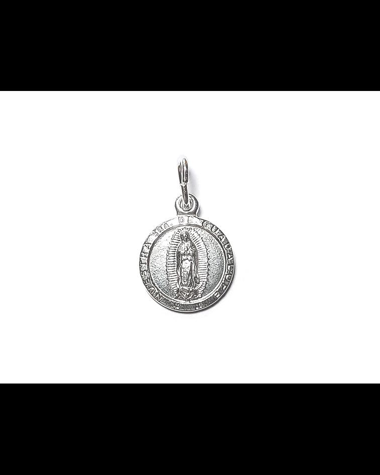 Colgante Virgen De Guadalupe 10mm Plata Fina 925