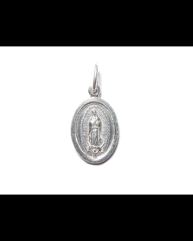 Colgante Virgen De Guadalupe 25mm Plata Fina 925