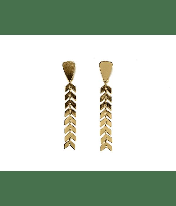 Aros Flecha Colgante Enchapado Oro 18 K