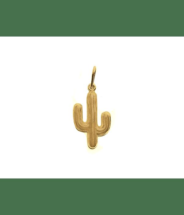 Colgante Cactus Enchapado Oro 18 K