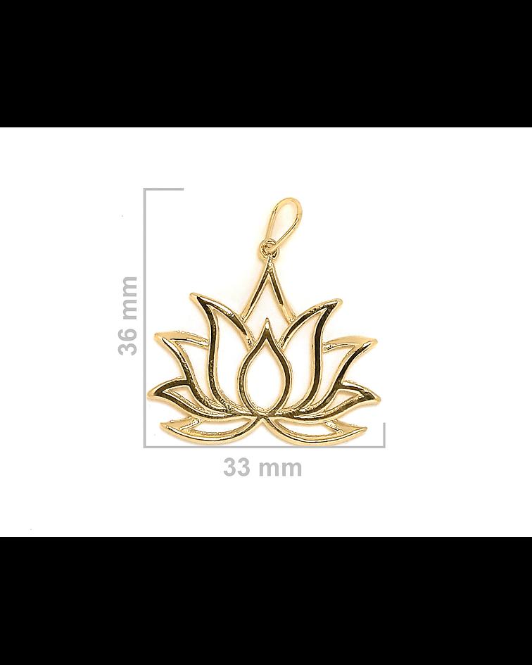 Colgante Flor De Loto Enchapado Oro 18 K