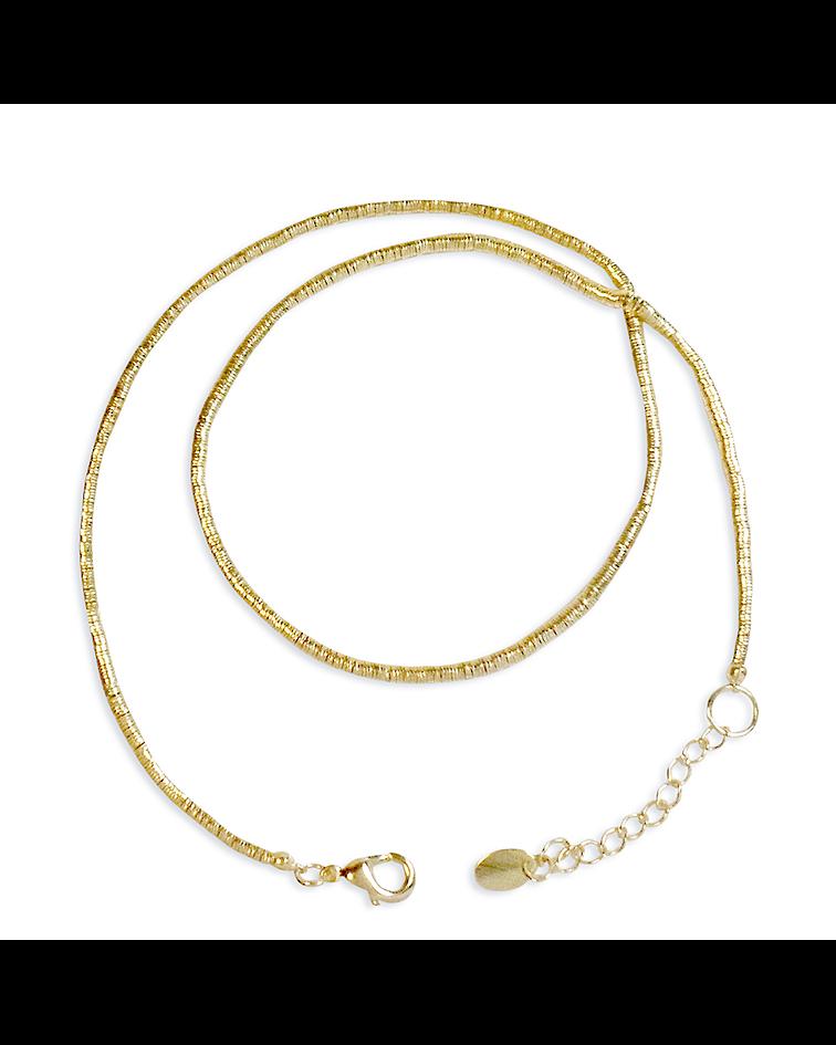 Collar mostacilla 40cm Enchapado Oro 18K