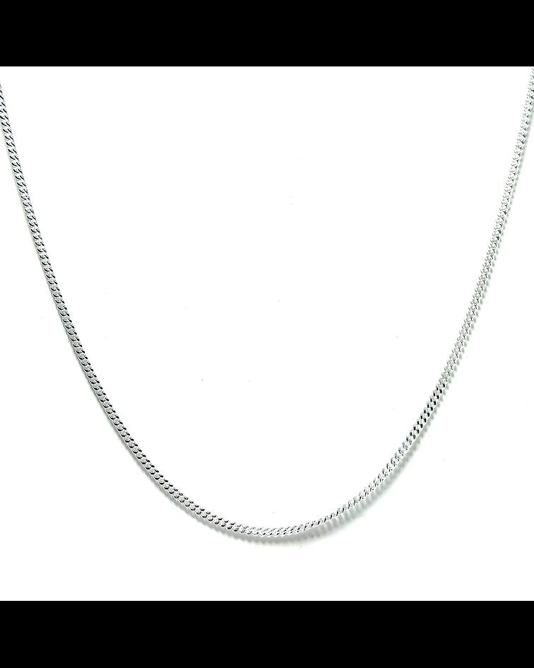 Cadena Grumet 60cm Plata Fina 925